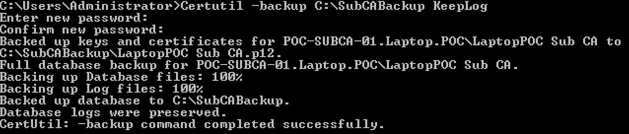 backupIssuingCA
