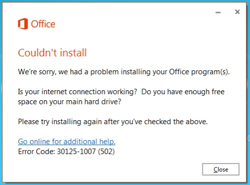OfficeCouldntInstall