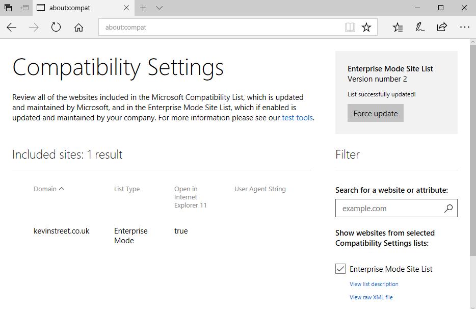 Compatibility Settings