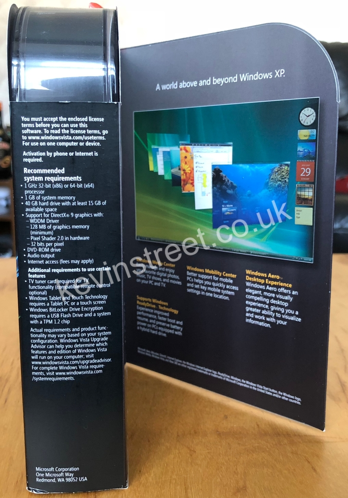 Windows Vista Ultimate Signature Edtion inside side