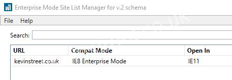 Using Enterprise Mode In Microsoft Edge And Internet Explorer 11 Kevin S Tech Blog