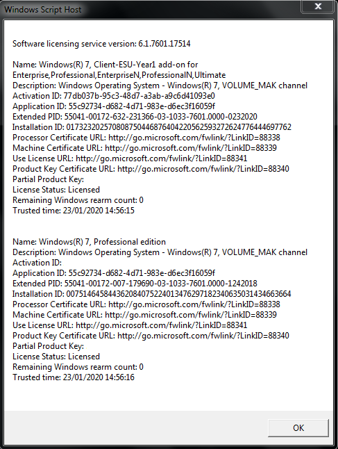 License Info After Activating