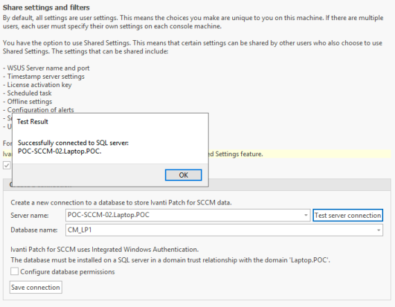 Configure Shared Settings