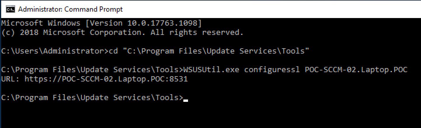 Configure WSUS SSL