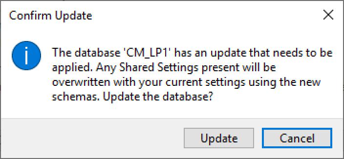Confirm update