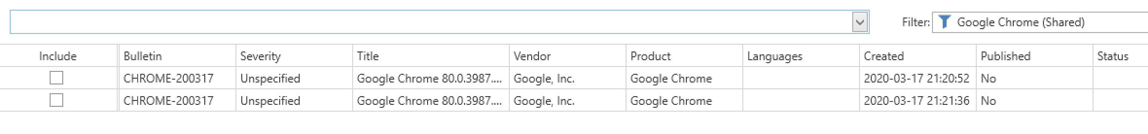 Google Chrome Smart Filter Results