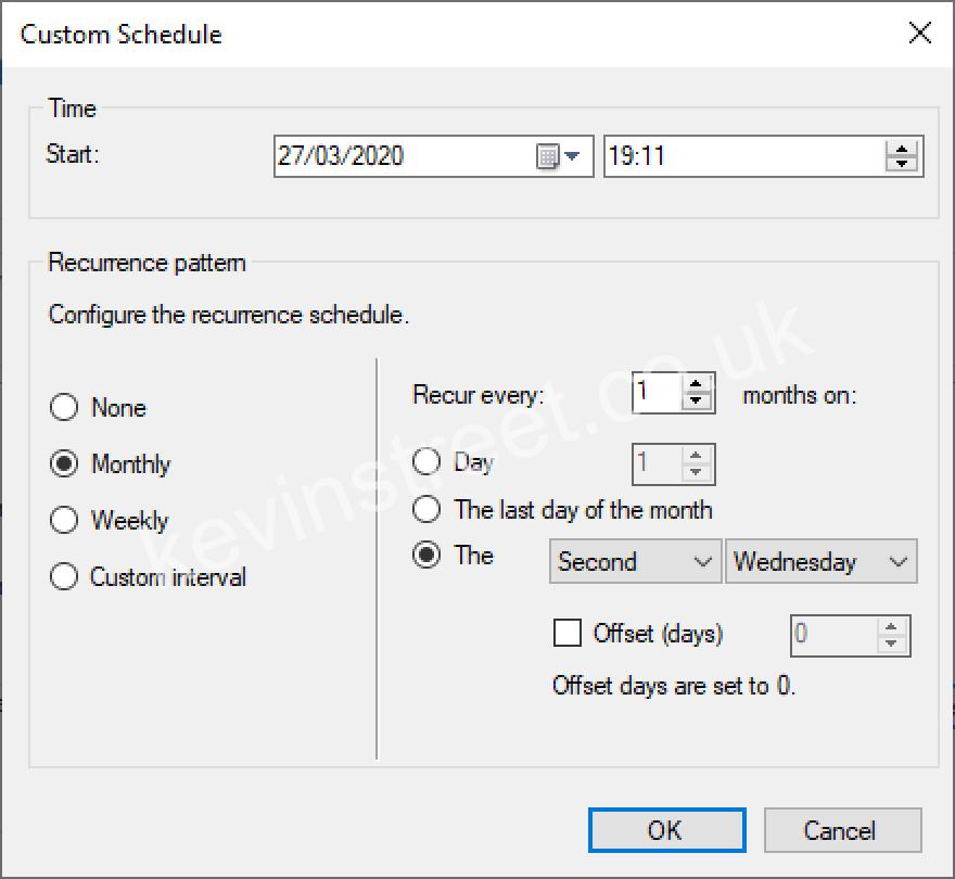 Update schedule