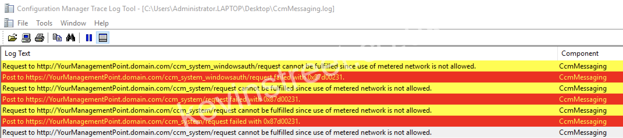 Request to http://YourManagementPoint.domain.com/ccm_system/request cannot be fulfilled since use of metered network is not allowed.